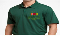 Ww Ii Ribbon First Allied Airborne Armyembroidered Polo Shirt/sweat/jacket.