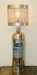Fyr Fyter Fire Extinguisher Table Lamp Light Stainless Vintage Upcycled