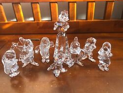 Crystal Figurines Snow White And Seven Dwarves. All In Mint Condition.