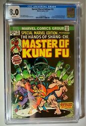 Special Marvel Edition 15 1st Master Of Kung Fu, Cgc 8.0 White Pages