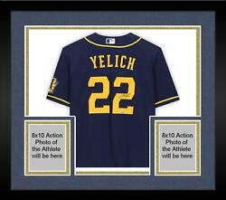 Frmd Christian Yelich Milwaukee Brewers Signed Blue Alternate Authentic Jersey