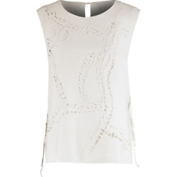 Emilio Pucci Cut-out Top With Open Tie Sides - White - Uk 10/it 42 - £550