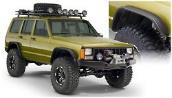 Bushwacker 10922-07 Front And Rear Flat Style Fender Flares For 84-01 Cherokee