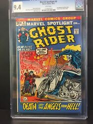 💎marvel Spotlight 6 Cgc 9.4 White Pages 2nd App And Origin Retold Ghost Rider