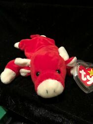 Snort The Bull 1995 Original Retired Ty Beanie Babies W Errors Tush And Tag Pvc