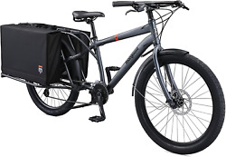 Mongoose Envoy Cargo Bike With 26-inch Wheels In Grey, Small/medium Frame, With