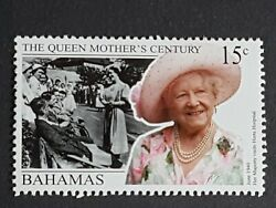 Bahamas Mh 15c Stamp 1999 100th Birthday Of Queen Elizabeth The Queen Mother