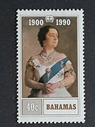 Bahamas Mnh 40c Stamp 1990 90th Birthday Of Queen Elizabeth The Queen Mother
