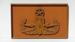 Vietnam Us Army Military Master Eod Explosive Ordnance Disposal Wood Wall Plaque