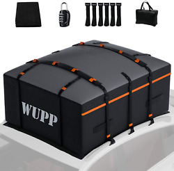 Wupp Car Rooftop Cargo Carrier Bag Expandable 15 To 19 Cubic Feet Waterproof