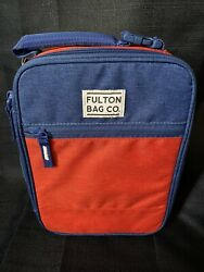 Fulton Microban Insulated Lunch Bag Red/blue New   Fast Shipping
