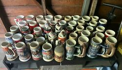 Vintage Budweiser Holiday Steins 1980 - 2019 Frank And Louie Champion Clydesdales