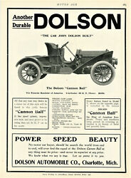 1907 Very Rare Vintage Dolson Cannon Ball Made 1904-1907 Ad. Charlotte, Mich