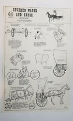 Marx Johnny West Covered Wagon And Horse Assembly Instructions Copy 17x11