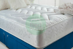 9 Deep Quilted Orthopedic Sprung Mattress 3ft 4ft 4ft6 Double 5ft King Uk