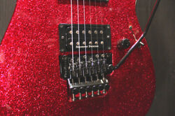 Esp M-ii Deluxe Rosewood Fingerboard Custom Color Red Sparkle Matching Head 2013