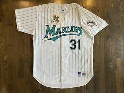 Nwt Russell Authentic Mike Piazza 31 Florida Marlins Jersey 48 Xl