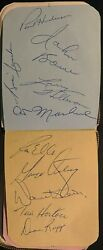1960's Nhl Hockey Multi Signed Autograph Book 63 Autos Tim Horton Hall Of Famers