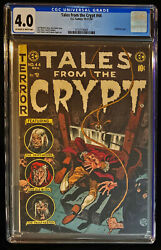1954 Ec Tales From The Crypt 44 Cgc 4.0 Off White Pages To White Pages