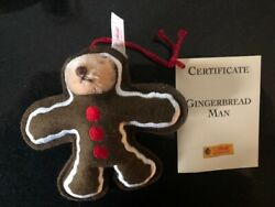 Steiff Gingerbread Man 2000 In Box Mint Condition