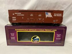 ✅mth Premier Wisconsin Southern 50' Double Door Plugged Box Car 20-93302 Us Army