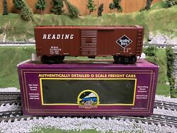 ✅mth Premier Reading Lines 40' Aar Box Car 20-93292 O Scale Freight Train