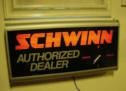 Vintage Schwinn Lighted Dealer Sign And Bike Posters Bicycle Collector Man Cave