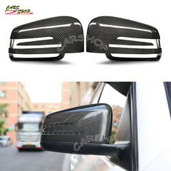 For Benz W463 W166 X166 G500 Gle Dry Real Carbon Fiber Side Mirror Cover Replace