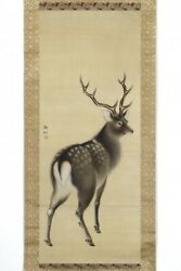 Edo Animal Paintings Hanging Axis Mori Tosen Stag Diagram Double Box Okudo