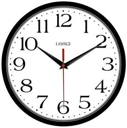 Non Ticking Silent Wall Clocks Battery Operated 10 Inch Classic Quartz Clock
