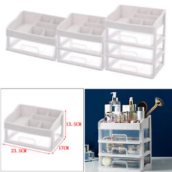 Makeup Organizer Cosmetic Clear Drawer Storage Box Shelf for Makeup Brushes $17.66