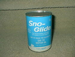 Sno Glide 2 Cycle Engine Snowmobile Humble Motor Oil Quart Metal Can Sae 20