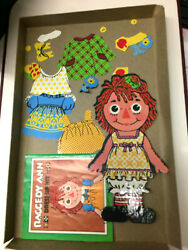 Vintage 1967 Raggedy Ann Dress Up Kit Colorforms Complete
