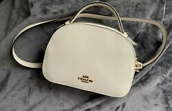 NWT Coach Serena Satchel Shoulder Crossbody Bag in Chalk Retail $328 Style 1589 $146.00