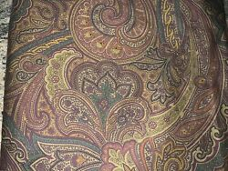 Rare Ascot Paisley Set Of King Pillow Cases Made In France Sateen