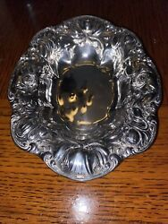 Rwands Sterling Silver Poppy Floral Tray/dish Nuts Trinkets Condiments No Monogram