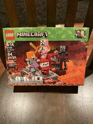 21- Lego 21139 Minecraft The Nether Fight Building Kit Alex Zombie Pigman Rare