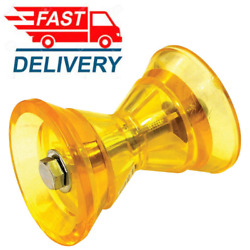 Ultimate 3 Yellow Poly Bow Roller Stop Boat Pwc Marine Trailer 3 Inch