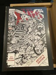 Jim Lee X-men Artist Edition Book Idw Signed And Numbered Variant Brand New 65/175