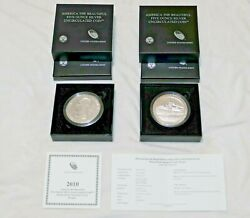 2010 P Mount Hood America The Beautiful 5 Oz Silver Coin Excellent Satin Proof