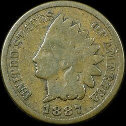 1887 1c Indian Head Cent Fs-101 Ddo Doubled Die Obverse Rare Old Type Coin Penny