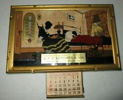Vintage Thermometer Advertising Picture Frame A.f.a Battenberg And Son Newton Iowa