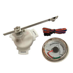 2 Inch 52mm Rudder Angle Indicator Gauge 0-190ohm Signal With Single Station