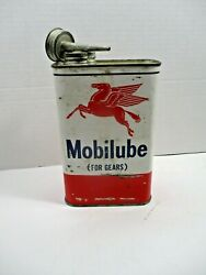 Vintage Mobil Oil Can Tin With Pegasus