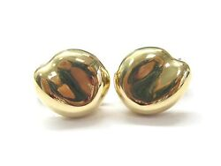 And Co Elsa Peretti 18kt Bean Huggie Yellow Gold Earrings 16mm