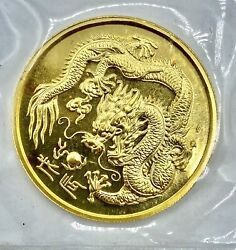 1988 Singapore 1/2 Oz .999 50 Singold Coin Year Of Dragon In Ogp