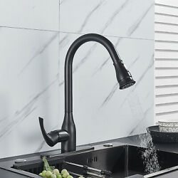 Brass Kitchen Faucet Single Handle Pull Out Sprayer Oil Rubbed Bronze Mixer Tap
