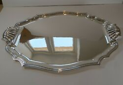 Magnificent Large French Silver Plated Drinks Tray C.1900
