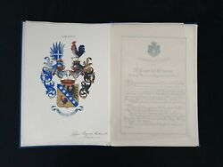 Benito Mussolini Signed Letters Patent Grant Arms Nobility Document Autograph It