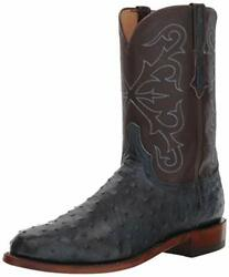 Lucchese Mens Hudson Full Quill Ostrich Round Toe - Choose Sz/color
